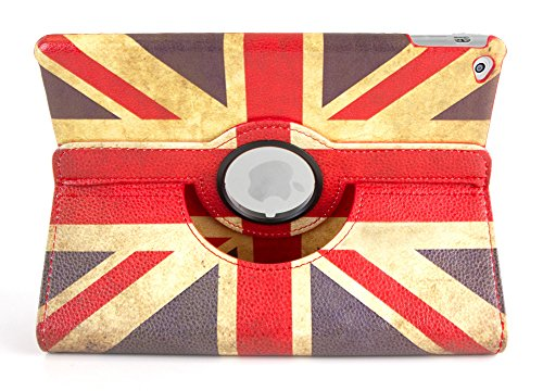 DURAGADGET Union Jack Hülle Tasche Brexit Etui Case mit Standfunktion, Britische Flagge, MAßGEFERTIGT für das Apple iPad Air 2 (2014) mit 9.7 Zoll Display 32 GB und 128 GB Wi-Fi/Wi-Fi + Cellular (Wi Facetime)