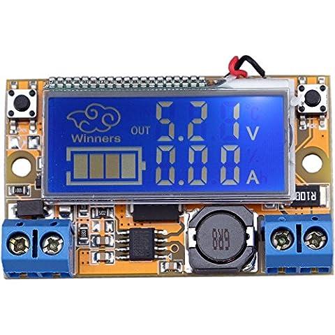 Yeeco 4.75-20V a 0-16.5V Ajustable DC a DC Dólar Convertidor Reducir Fuente de Alimentación Regulador de Voltaje Variable Voltios Convert Transformador Voltaje Estabilizador Amperímetro Voltímetro Voltio Amperio Pantalla LCD