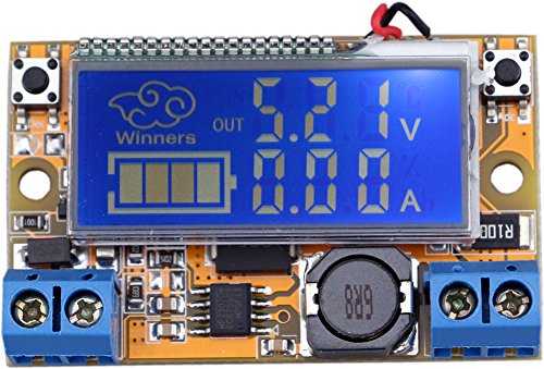 Yeeco 4.75-20V zu 0-16.5V Adjustable Car DC-DC-Buck Converter Step Down Power Supply Voltage Regulator Variable Volt konvertieren Transformator Spannungskonstanthalter mit Amperemeter-Voltmeter-Volt-Ampere-LCD-Display 1 Schritt Transformatoren