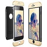 CE-Link Funda iPhone 6 / iPhone 6s, Carcasa Fundas para iPhone 6 / iPhone 6s, 3 en 1 Desmontable Ultra-Delgado Anti-Arañazos Case Protectora - Oro + Negro