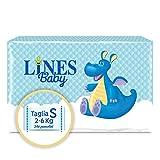 Lines Baby Small, 240 Pannolini, Taglia 1-2 (2-6 Kg),Confezione Scorta mensile