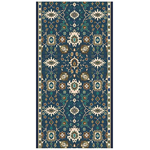 Traditionelle Orientalische Teppich (GuoWei-Teppiche Traditionell Orientalisch zum Lange Gang Eingang Flur Niedriger Haufen Schneidbar Mehrere Größe Anpassbar (Color : A, Size : 0.8x2m))