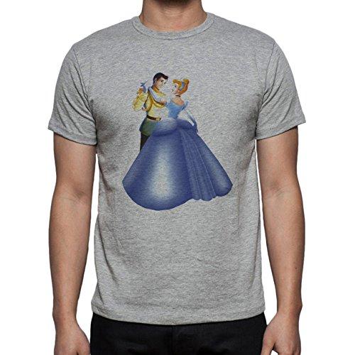 Cinderalla With Prince Beautiful Dancing Herren T-Shirt Grau