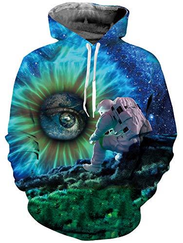 Goodstoworld Auge Pullover Hoodie Herren Damen 3D Kapuzenpullover Sweatshirt Druck Kapuze Sweatjacke Tops mit Tasche - Frauen Tie-dye-sweatshirt Für