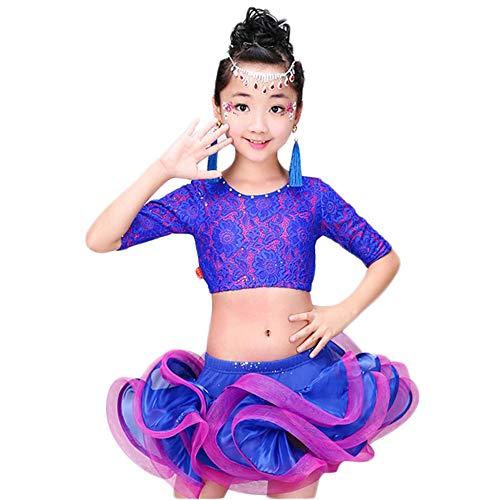 Children's wear Kinder Tanz Kostüme, Mädchen Spitze Tutu Latin Lumbar Test Kleider, geeignet für Kinder Bühnenwettbewerb ()