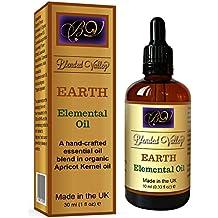 Olio Aromaterapia TERRA - Oli Essenziali di Lavanda e Cipresso in Olio di Albicocca. Per Diffusore di Aromi o Brucia. Da Usare per Rilassamento o Durante Yoga, Meditazione. Per Successo e Abbondanza.