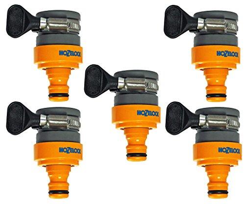Hozelock Lot de raccordement pour rondes pour robinets pour robinets ronde ou ovale, multicolore, 18 mm 5x