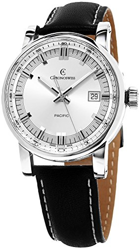 Chronoswiss Pacific Automatic Stainless Steel Mens Strap Watch Calendar CH-2883-SI/31-1