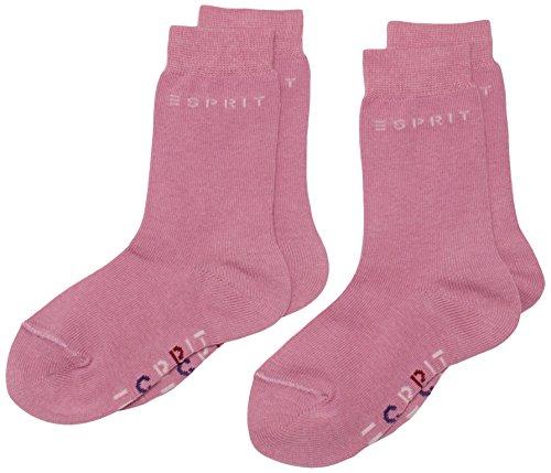 ESPRIT Mädchen Socken Foot Logo Doppelpack, Gr. 27-30, Mehrfarbig (mauve 8971)