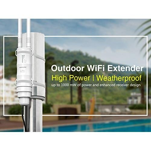 Wavlink AC600 High Power Outdoor Weatherproof CPE Repeater Access Point Router WISP 2.4GHz 150Mbps 5GHz 433Mbps Dual-Polarized 12dbi Directional Antenna Passive POE Model 570HA1  available at amazon for Rs.14299