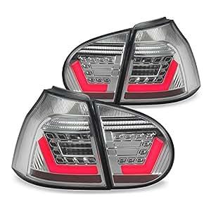 JOM 82941 Feux arrière VW Golf 5, techniques lightbar et LED, 03-08, face lisse/fond chrome