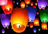 uctop Store 8PCS Mix Farben Chinesisches Papier Sky Flying Wishing Laterne Lampe Kerze Party Hochzeit WISH