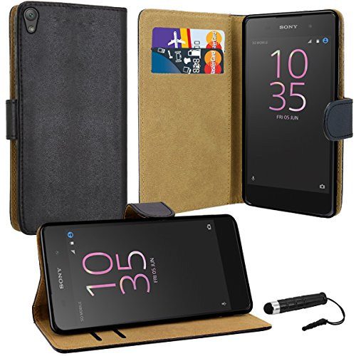 sony-xperia-e5-case-premium-quality-leather-wallet-case-cover-comes-with-xperia-e5-screen-protector-