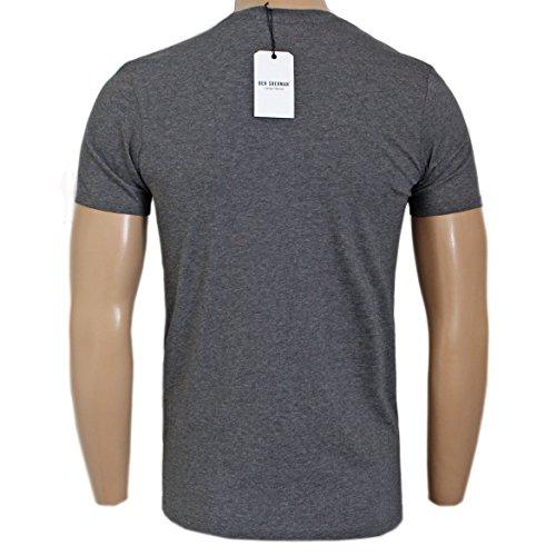 ... Ben Sherman Herren T-Shirt blau blau Dunkelgrau ...