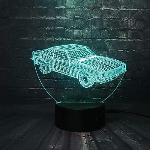3D Nachtlicht Heißer Verkauf Kuba Retro Animation Cooles Auto 3D Led Lampe Auto-Styling Bunte Cool Boy Geschenk Spielzeug Nachtlicht Tischdekoration