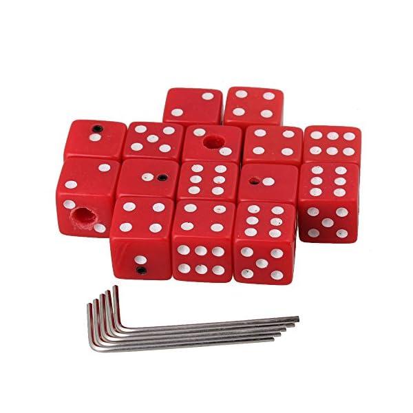 Tappi Rosso creative dadi in plastica pulsanti di controllo del volume per chitarra con chiave