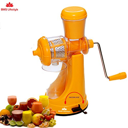 BMS Lifestyle Smart Fruits & Vegetable Juicer with Waste Collector Orange