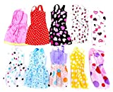 #2: Idream 10Pcs Multicolor Handmade Party Dress Fashion Clothes For Barbie Doll Play House