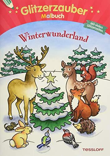 Glitzerzauber Malbuch Winterwunderland: Mit vielen Glitzerseiten (Malbücher und -blöcke)