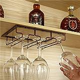 Porte MAZHONG Casier à vin/European Retro fer forgé casier à vin Hanging casier à vin/Wine Rack Bar Ledge Rack - Couleur: Rétro (taille : 50.5cm)