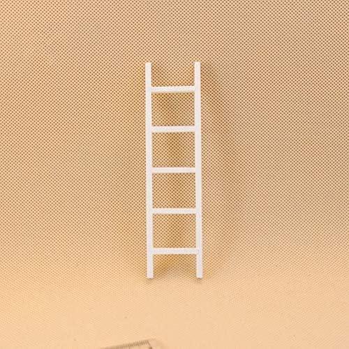 LanLan Mini échelle en Bois Blanc pour poupée 1 12 Maison de poupée pour  Accessoires ddddaa1e8ead