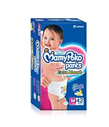 Mamy Poko Pant Style Medium Size Diapers (42 Count)