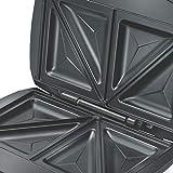 Prestige PSMFD 700-Watt Sandwich Toaster with Fixed Sandwich Plates (Black)