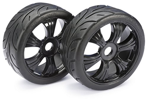 ABSIMA 2530003 Lot de 2 roues pour voiture RC Buggy Street 1:8 Noir