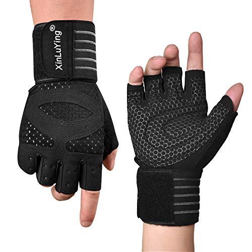 Fitself Fitness Handschuhe Herren Krafttraining Gewichtheben Handschuhe mit Atmungsaktivem Handgelenk Unterstützung für Crossfit Gym Fitnessstudio