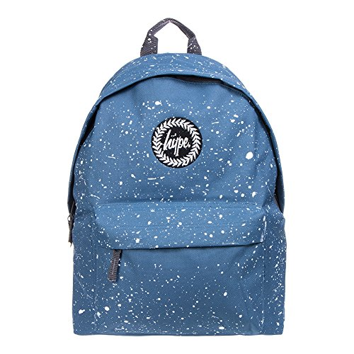 Hype Uomo Zaino Logo Speckle, Blu Blu/Bianco