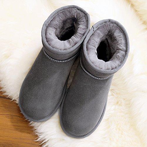 FLYRCX Il Winter Snow Boots e cashmere lady scivoloso spessore impermeabile scarpe caldo E