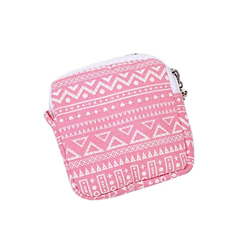 Damenhandtaschen Ronamick Frau Mädchen Niedlich Sanitär Pad Organizer Halter Serviette Handtuch Convenience Bags (Wassermelone Rot)