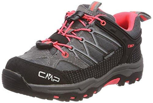 CMP Unisex-Kinder Rigel Trekking-& Wanderhalbschuhe, Grau (Grey-Red Fluo), 29 EU
