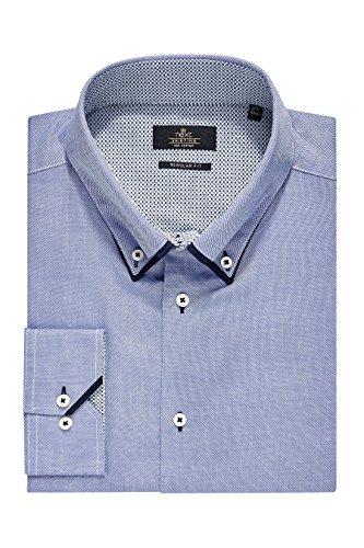 next Homme Chemise à double col Bleu - Poignet Unique