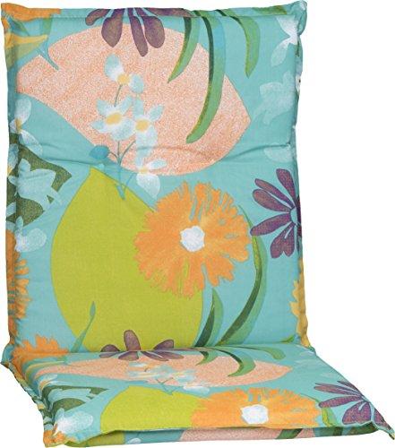 Beo Gartenstuhlauflage Polster Aquarell Blumenmotiv M701 für Niederlehner Orange, türkis, rosé...