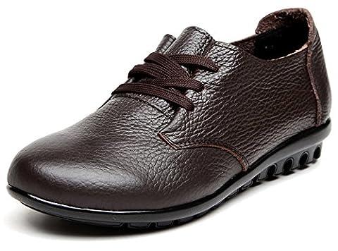 Fangsto Oxford, Chaussures à lacets fille femme - Multicolore - marron, 39.5