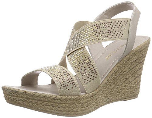 Marco Tozzi 28351, Sandales  Bout ouvert femme Beige (TAUPE 341)