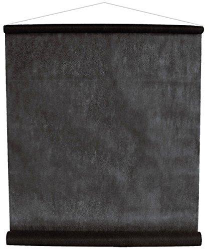 Einfarbiges Deko-Vlies 12 m schwarz