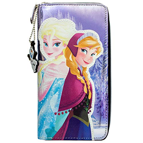 Frozen Prinzessinnen Anna & Elsa Blau Portemonnaie Geldbörse
