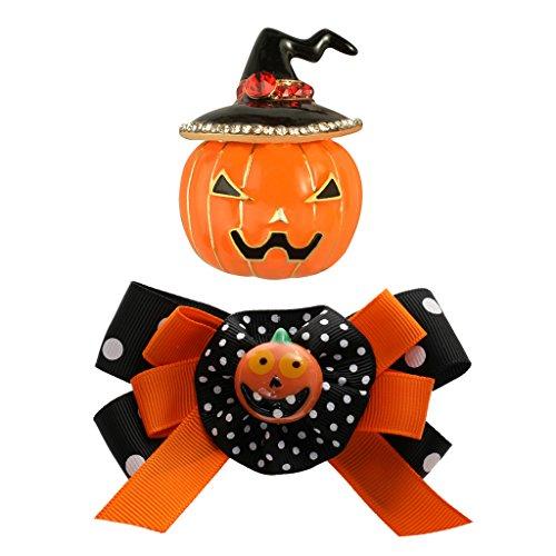 MagiDeal Halloween Headdress pumpkin Brooch Hair Clip Festival Harvest Thanksgiving