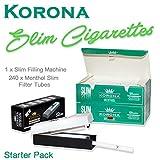 Korona Starter Kit–240Slim Menthol leer Zigarette Röhren