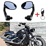 Ein Paar Motorrad Spiegel Lenkerendenspiegel Lenkerspiegel quad Rückspiegel 7/8 22mm Universal