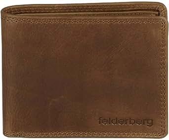 """""""Logan"""" Vintage Querformat-Geldbörse aus Hunterleder(Rindleder) Chestnut-Brown"""