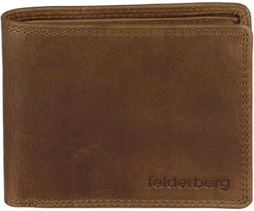 Portefeuille format rectangulaire 'Logan' cuir de buffle délicat aspect vintage , couleur:Marron