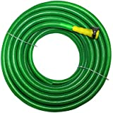"TechnoCrafts PVC Braided Hose For Floor Care 30 Meter (100 Feet) 3/4"" (0.75 Inch Or 19mm) Bore Size - 3 Layered Hose Pipe With 1"" Tap Connector & Butterfly Clamps"