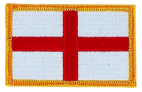 Patch écusson brodé drapeau angleterre anglais thermocollant insigne backpack