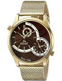 August Steiner Hombre Analógico Pantalla cuarzo reloj, color dorado
