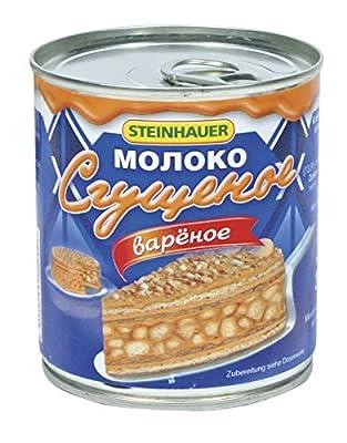 """Steinhauer Gezuckertes und gekochtes Kondensmilcherzeugnis """"Sguschtschonka Warjonka"""" 6% Fett, 12er Pack (12 x 397 g)"""