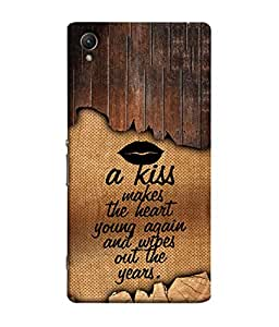 PrintVisa Designer Back Case Cover for Sony Xperia X :: Sony Xperia X Dual F5122 (Love Lovely Attitude Men Man Manly)