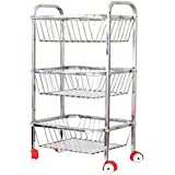 Kitchen Product present Royal Sapphire Stainless Steel Fruit And Vegetable Trolley